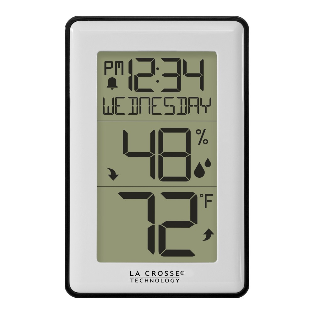 La Crosse Technology Indoor Thermometer with Temperature and Humidity La Crosse Technology Indoor Thermometer with Temperature and Humidity