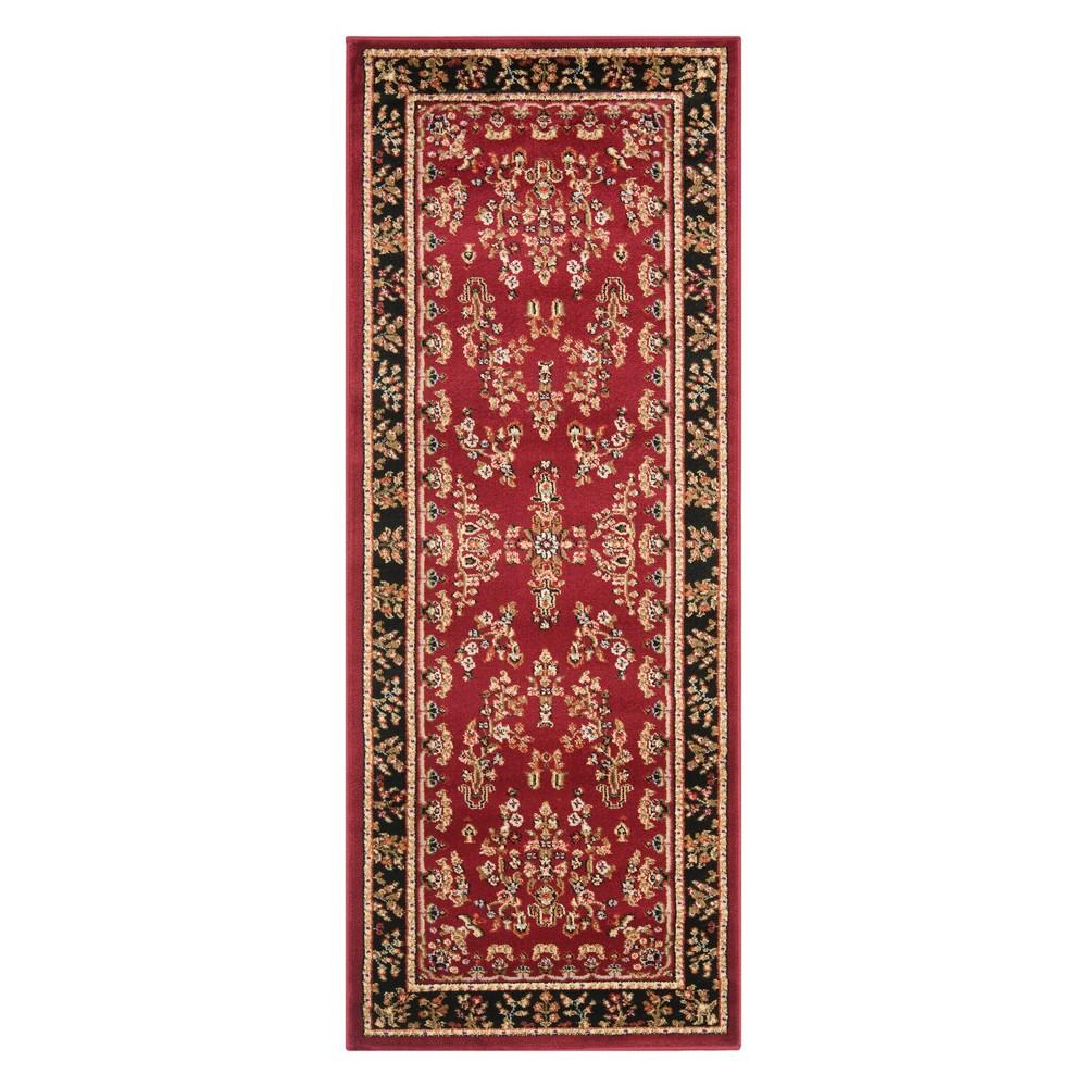 23X6 Floral Loomed Runner Red/Black - Safavieh Top