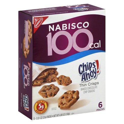 Nabisco 100 Calorie Chips Ahoy Thin Crisps Baked Snacks - 6ct - image 1 of 1