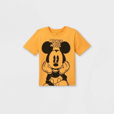 Toddler Boys' Mickey Mouse Short Sleeve Graphic T-Shirt - Gold