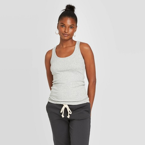 Women's Slim Fit Rib Racerback Tank Top - Universal Thread™ - image 1 of 3