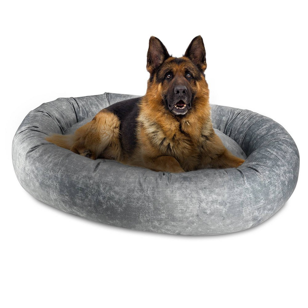 Canine Creations Orbit Oval Dog Bed L Gray