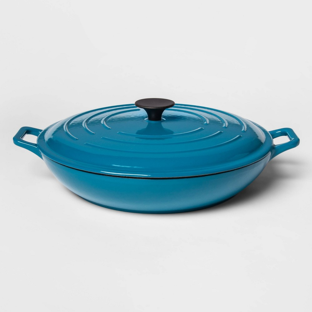 Image of 3.5qt Everyday Pan Teal - Threshold , Blue