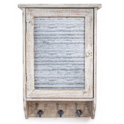Wood And Metal Wall Cabinet White - E2 Concepts