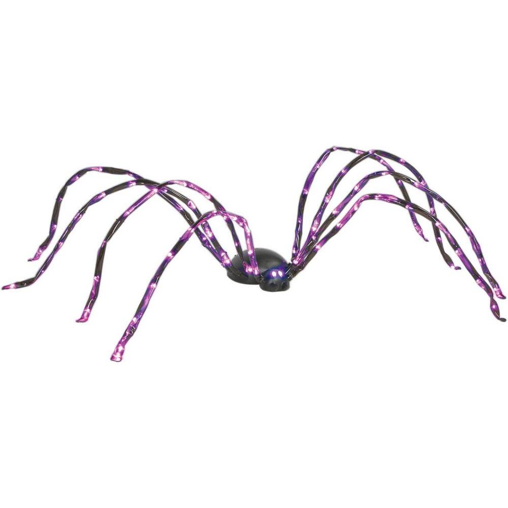 Image of 8' Halloween Purple Lighted Spider