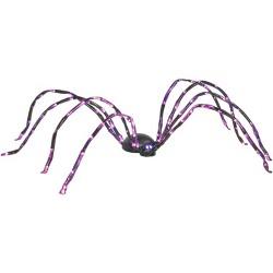 8' Halloween Purple Lighted Spider