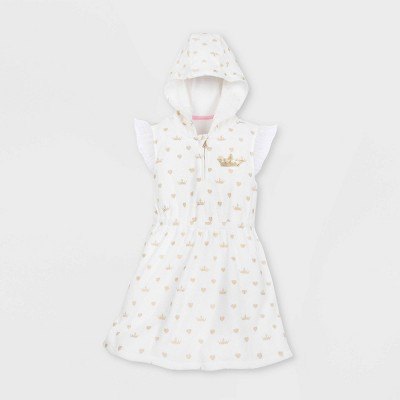 Girls' Disney Princess Swim Cover Up - White - Disney Store