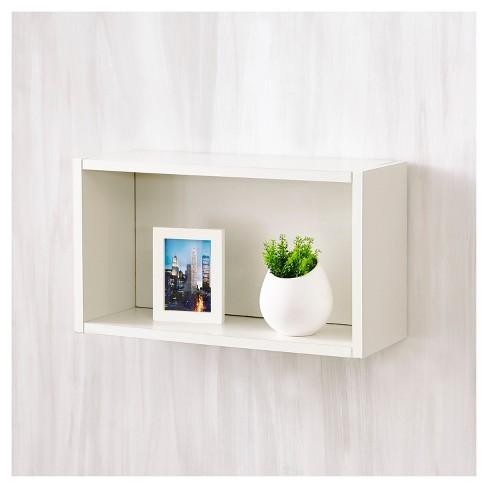 Way Basics Wall Rectangle - Floating Eco Decorative Wall Shelf ...
