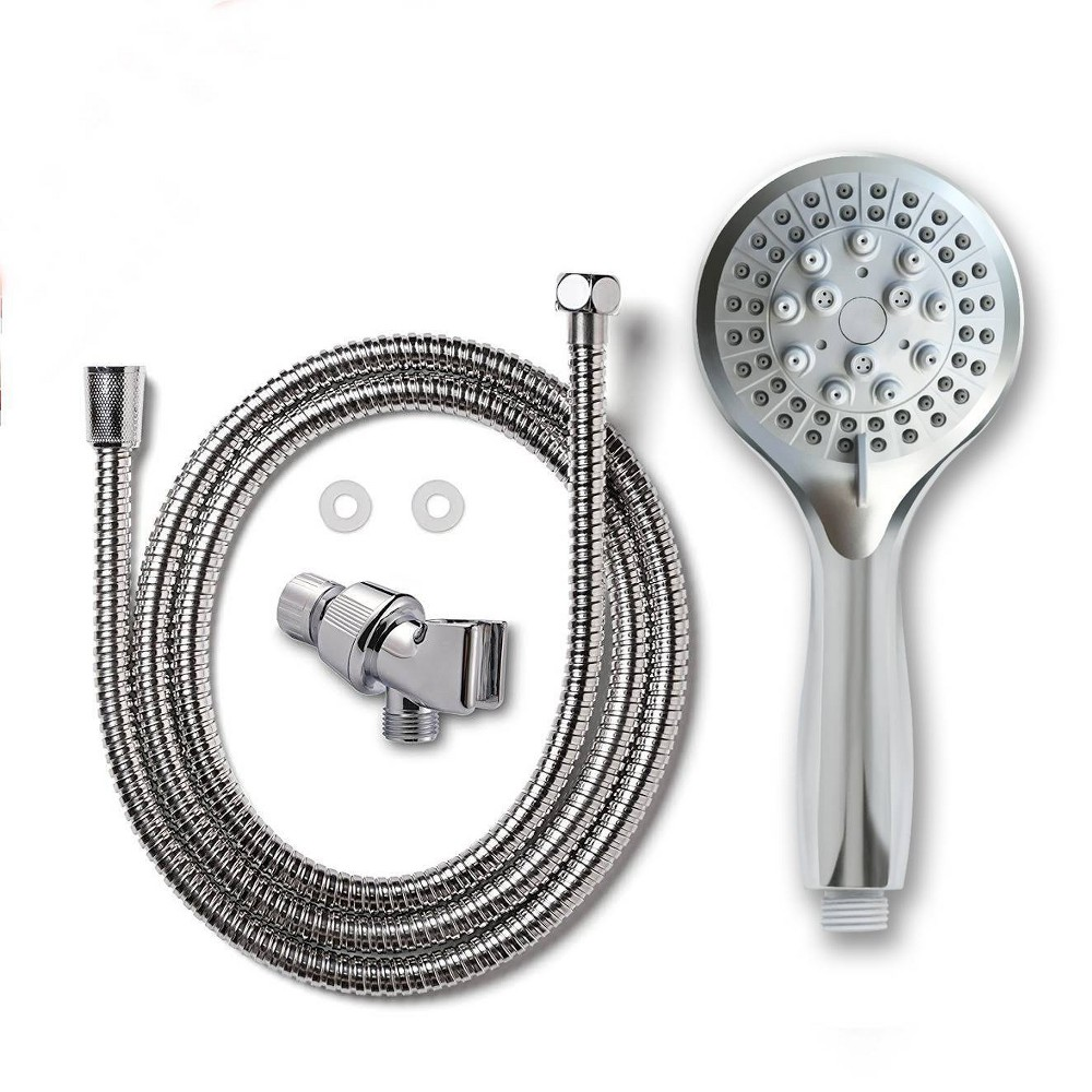 5 Function Chrome (Grey) Plated Hand Shower Head Chrome - Coby