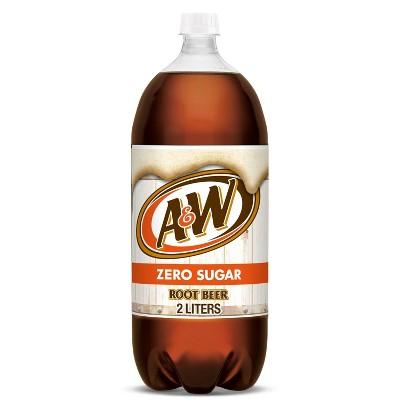 A&W Root Beer Zero Sugar Soda - 2 L Bottle