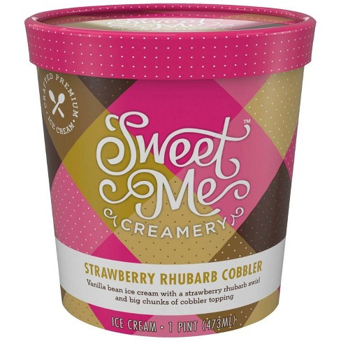 Sweet Me Creamery Strawberry Rhubarb Ice Cream - 16oz - image 1 of 1