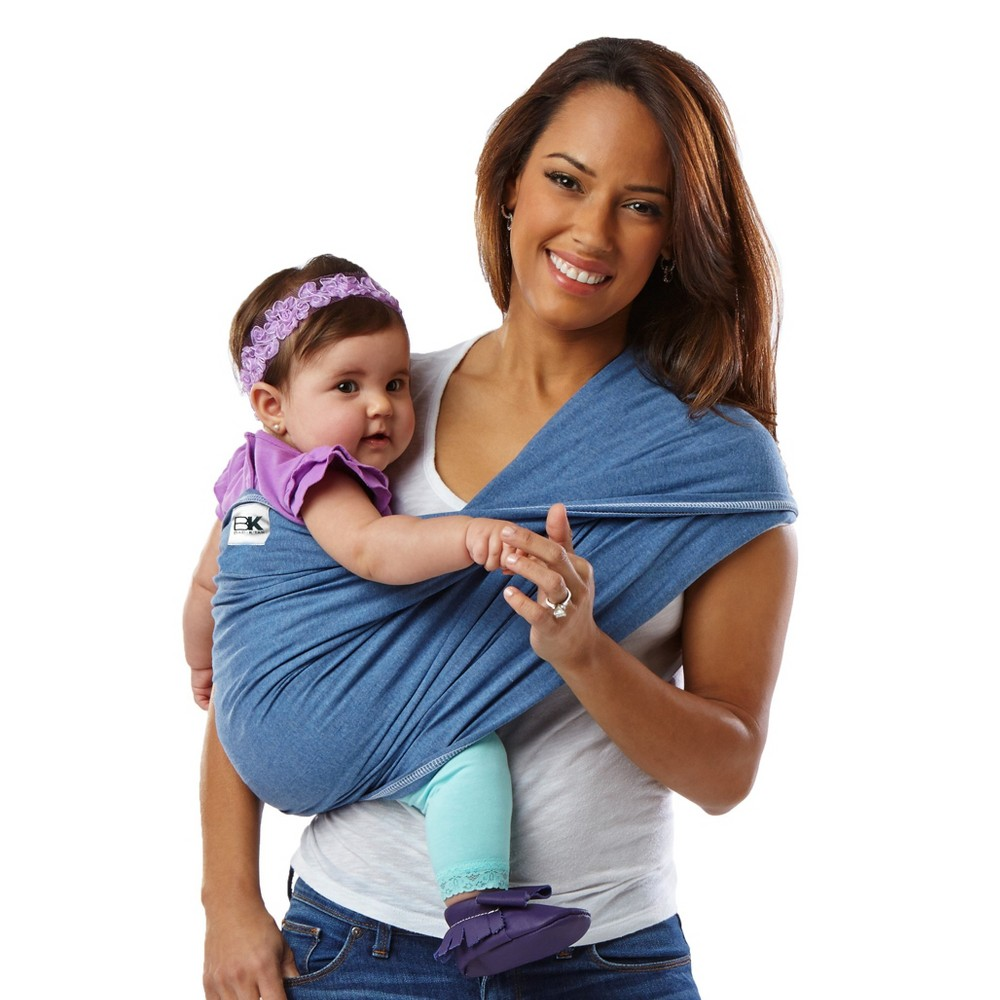 Baby K'tan Original Baby Carrier, Denim, Small, Blue A wrap-style baby carrier without the wrapping. The award-winning Baby K'tan Baby Carrier lets you enjoy hands-free, hassle-free, buckle-free baby wearing anytime, anywhere. This ready-to-wear cotton wrap slips on easily like a T-Shirt and is individually sized for the perfect fit. Its patented double-loop design and unique one-way stretch delivers the security you want and the versatility you need to be on the go and snuggle your little one close. Moms can even nurse discreetly and bond through skin-to-skin care modestly. No buckling or excess wrapping to confuse or frustrate you. All Baby K'tan Baby Carriers come in a matching carry bag that converts to a sash which provides added support for certain positions in your Baby K'tan Baby Carrier. Size: S. Color: Blue.