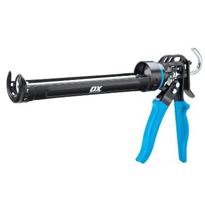 OX Tools P044429 Professional Heavy Duty Caulk Gun 29 Ounce 12:1 Thrust Ratio, Black