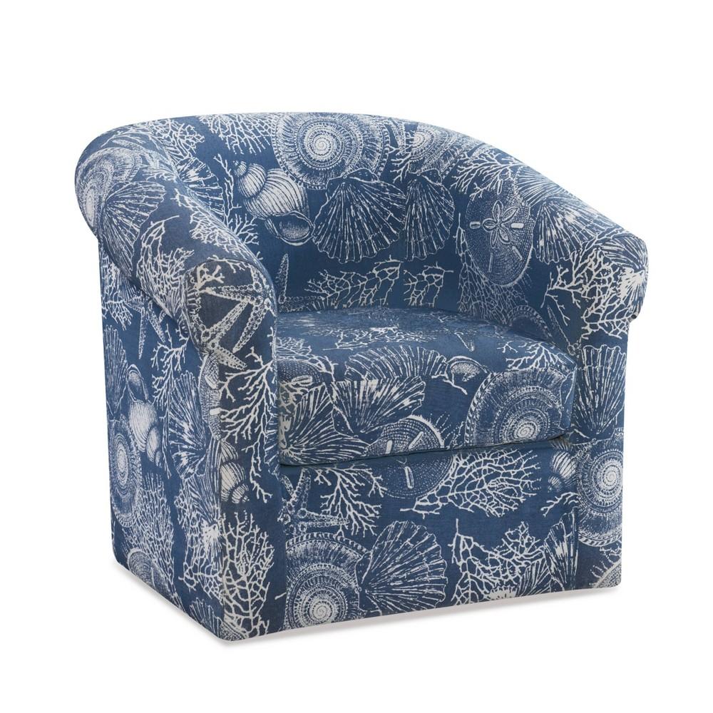 Monahan Swivel Club Chair Blue Powell Company