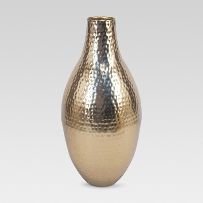 Textured Vase Gold Tall - Threshold™
