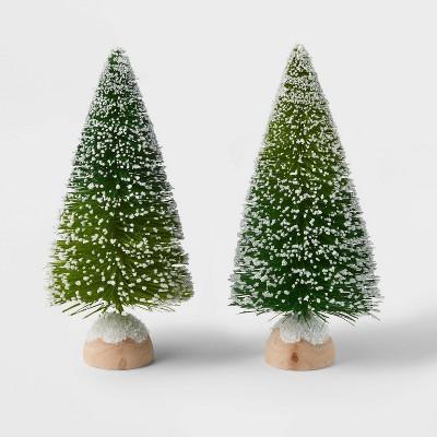 2pk Bottle Brush Christmas Tree Set Blue/Green - Wondershop™