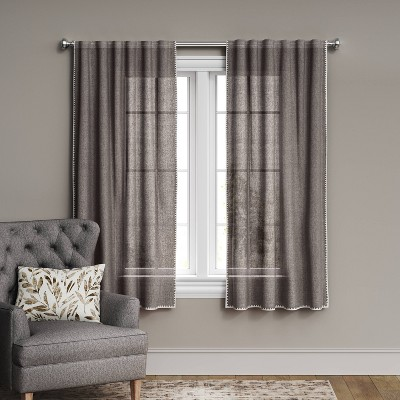 Stitched Edge Light Filtering Curtain Panel - Threshold™