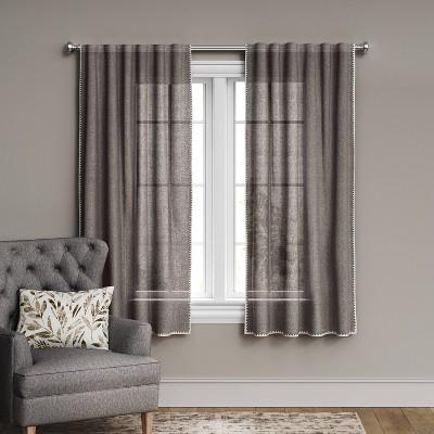 Stitched Edge Light Filtering Curtain Panel - Threshold™