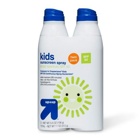 d8f2606b10ff8 Kids Sunscreen Spray SPF 50 Twin Pack - 11oz - Up Up™   Target
