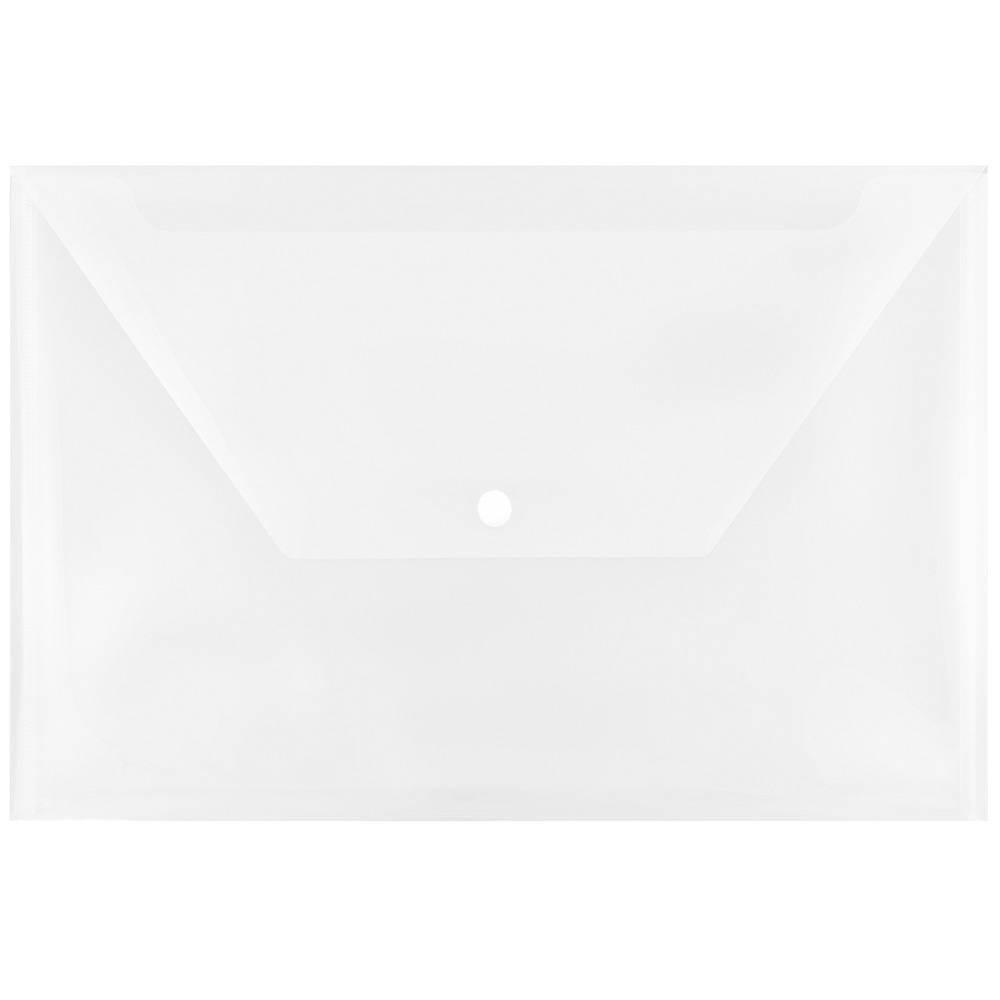 Jam Paper 9 3/4'' x 14 1/2'' 12pk Plastic Envelopes Snap Closure, Legal Booklet - Clear Jam Paper 9 3/4'' x 14 1/2'' 12pk Plastic Envelopes Snap Closure, Legal Booklet - Clear