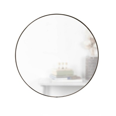 "34"" Hubba Round Wall Mirror Titanium - Umbra"