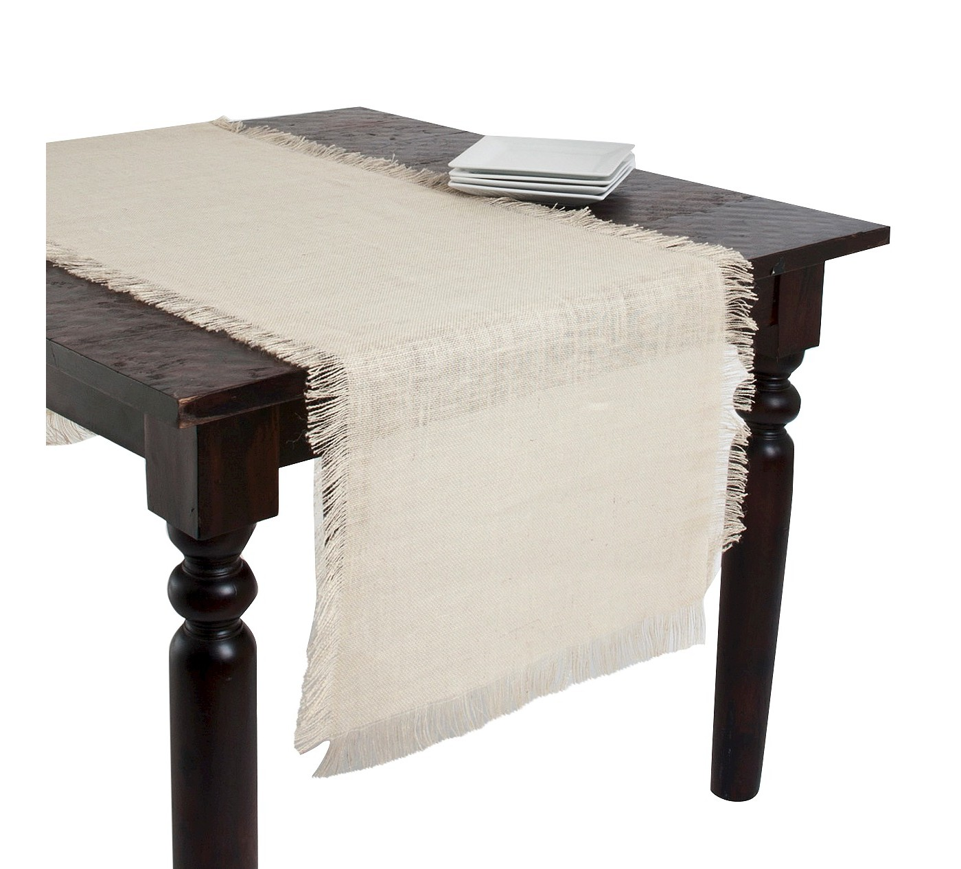 Fringed Jute Table Runner - image 1 of 1