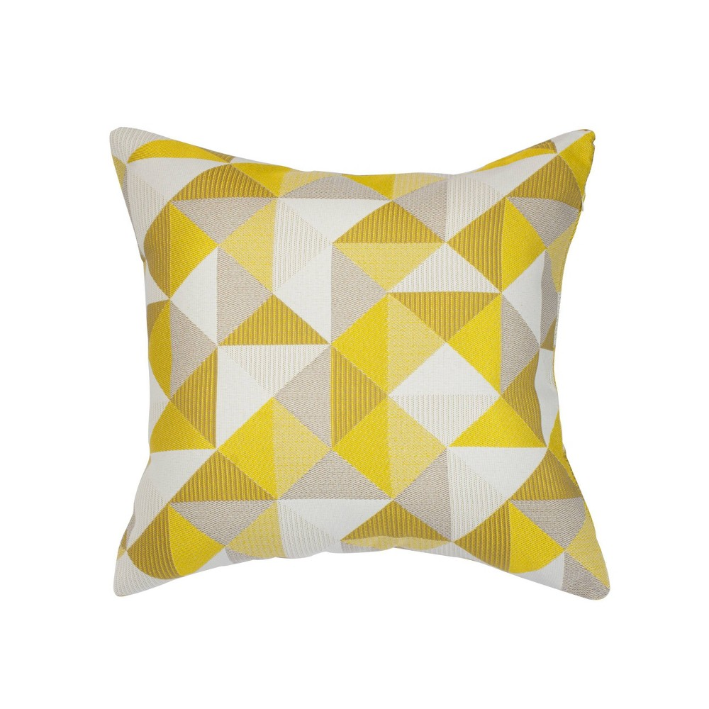 "Image of ""Pacifica Accent Throw Pillow Ruskin Yellow - Astella, Size: 18""""x18"""""""