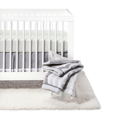 Crib Bedding Set Chevron 4pc - Cloud Island™ Gray