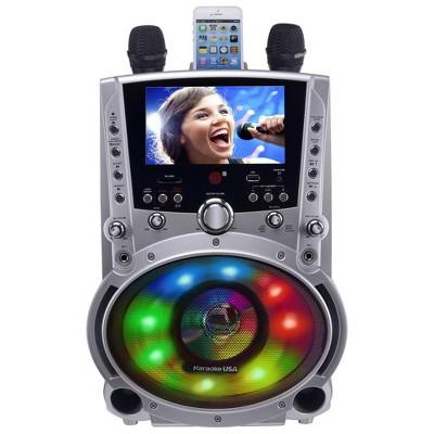 "Karaoke USA Complete Bluetooth Karaoke System with LED Sync Lights and 7"" Color Screen (GF758)"