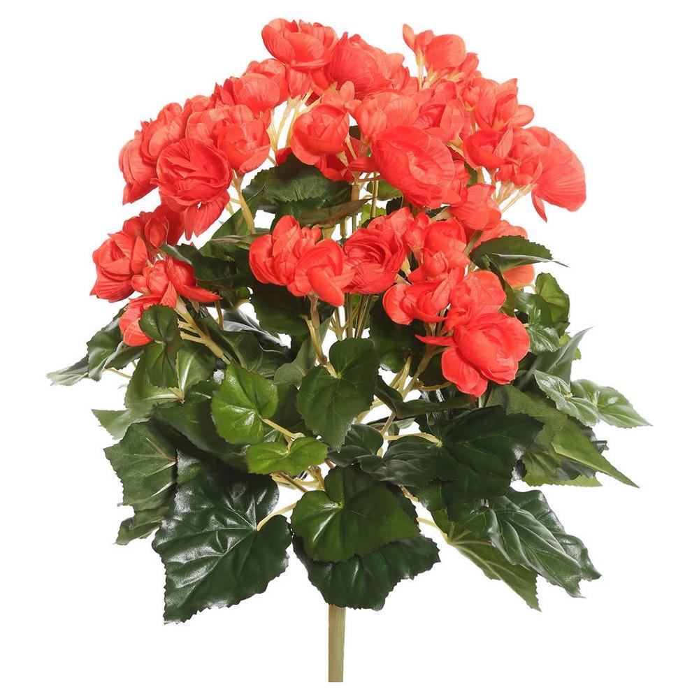 Image of Artificial Begonia Bush (15.25) Orange - Vickerman