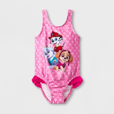 Toddler Girls' PAW Patrol One Piece Swimsuit - Pink 2T