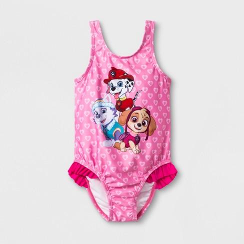 ee23b62b4f384 Toddler Girls  Paw Patrol One Piece Swimsuit - Pink   Target