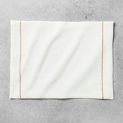 Embroidered Placemat - Cream/Coral - Hearth & Hand™ with Magnolia