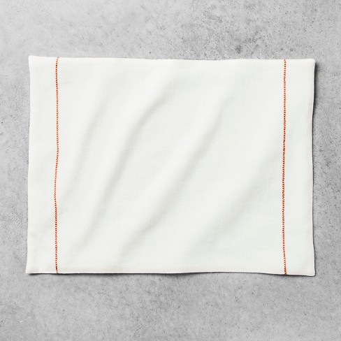Embroidered Placemat Cream/Coral - Hearth & Hand™ with Magnolia - image 1 of 2