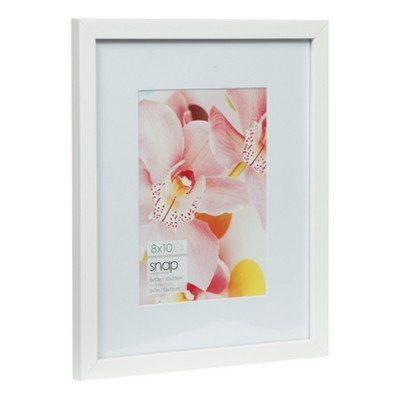 8X10 Mat To 5X7 White Wood Frame - Gallery Solutions