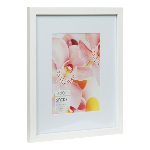 8x10 Mat To 5x7 White Wood Frame Gallery Solutions Target