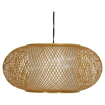 Honey Kata Japanese Ceiling Lantern - Neutral