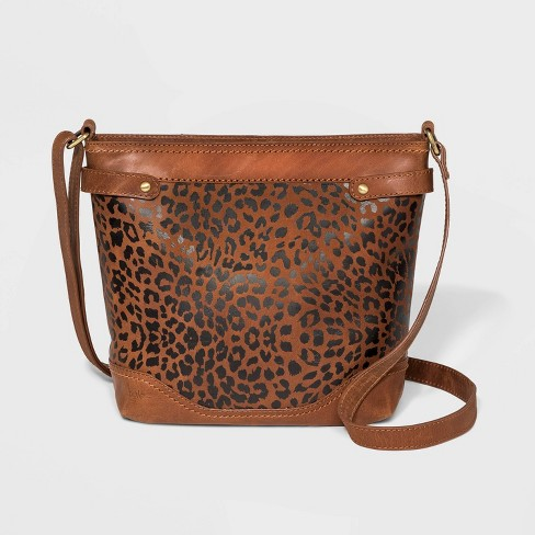 Bolo Leopard Print Lanza Crossbody Bag - Brown - image 1 of 4