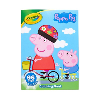 Crayola 96pg Peppa Pig Coloring Book With Sticker Sheet : Target