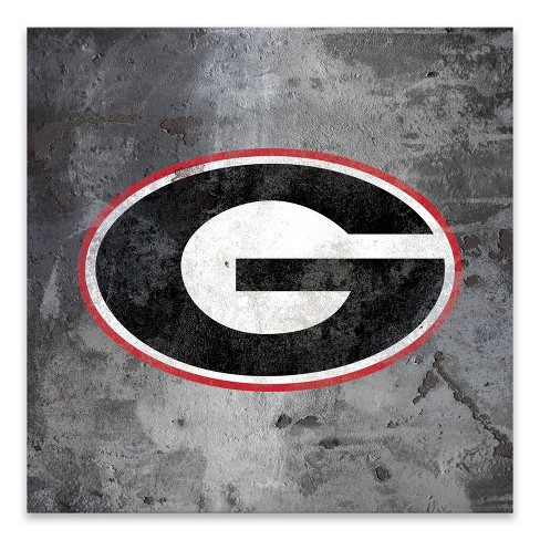 Ncaa Georgia Bulldogs Logo Rust Printed Canvas Target