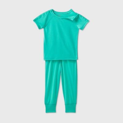 Toddler 2pc Adaptive Pajama Set - Cat & Jack™ Green