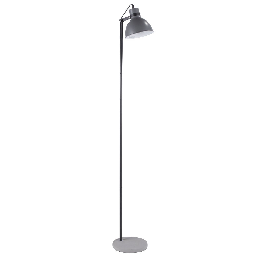 Image of Concrete Industrial Floor Lamp Gray (Lamp Only) - Lumisource