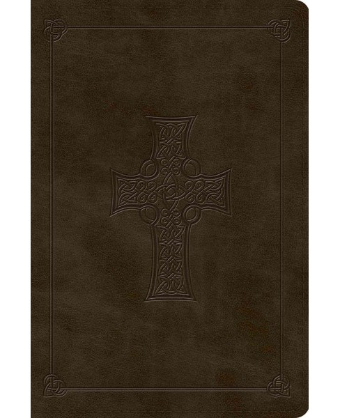 Holy Bible : English Standard Version, Trutone, Olive, Celtic Cross -  Large Print (Paperback) - image 1 of 1