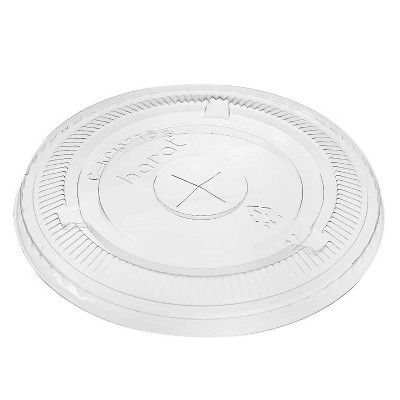 Karat C-KCL1045 PET Flat Lids for 32 Ounce Paper and Poly Pro Cold Cups for Iced Tea, Smoothies, and Other Cold Drinks, Case of 600