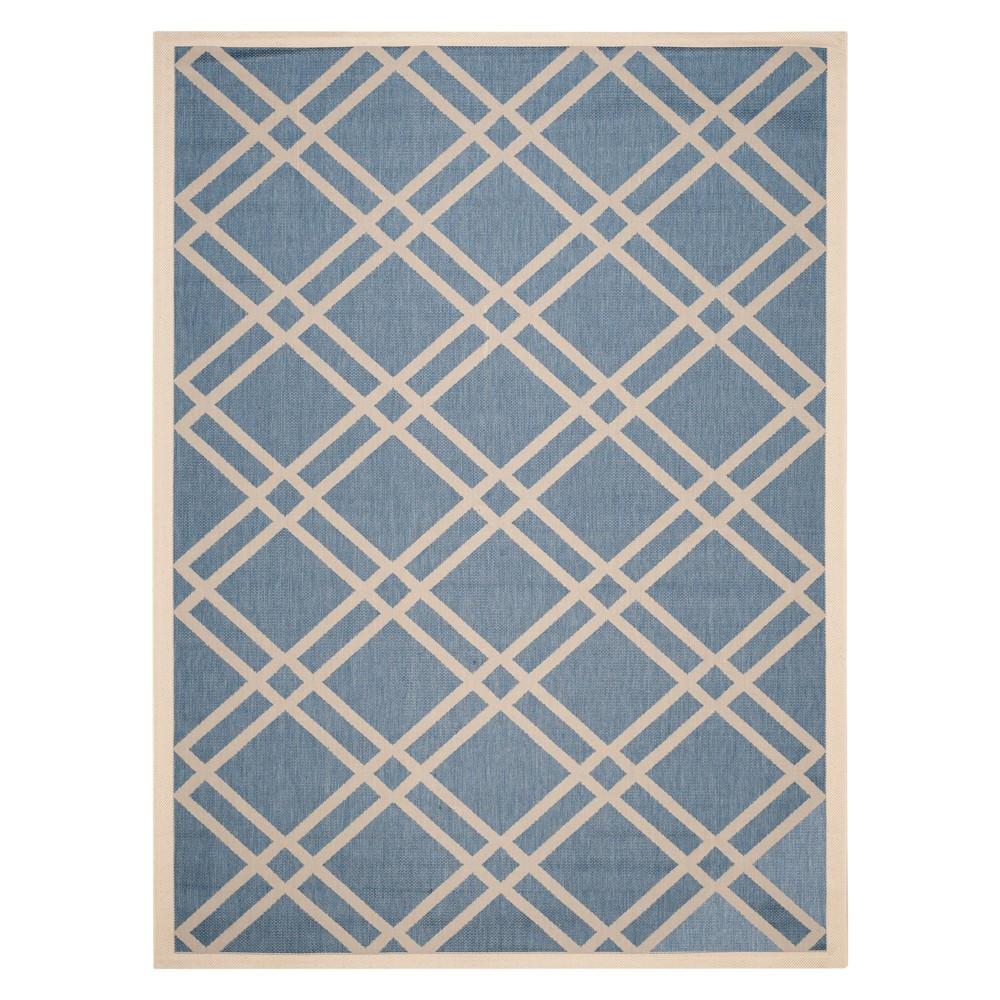 Karwina Rectangle 9' X 12' Outer Patio Rug - Blue / Beige - Safavieh