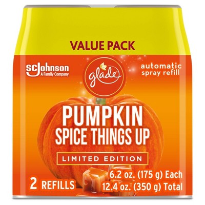 Glade Automatic Spray Air Freshener Refills - Pumpkin Spice Things Up - 6.2oz/2ct