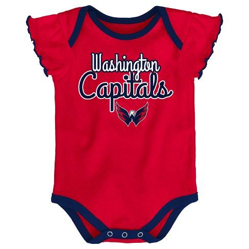 NHL Washington Capitals Girls  Winning Goal 3pk Body Suit Set   Target 1cd587df2e72