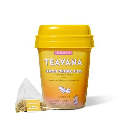 Teavana Lemon Ginger Bliss Herbal Tea Packets - 12ct