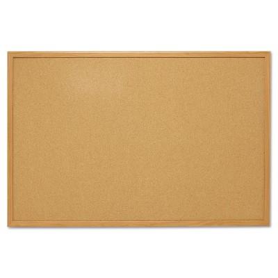 Mead Cork Bulletin Board 48 x 36 Oak Frame 85367