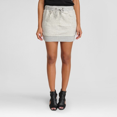 Women's French Terry Kangaroo Pocket Skirt - Poetic Justice - image 1 of 3